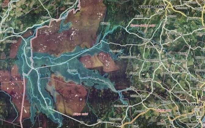 Eesti üleujutusi saab vaadata satelliitkaardilt