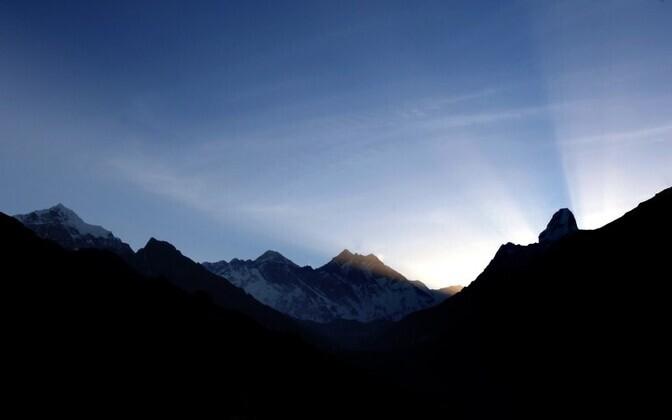 The Himalayas at sunrise