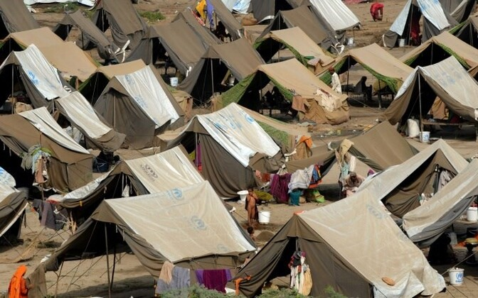 A temporary camp for the displaced in Sukkur