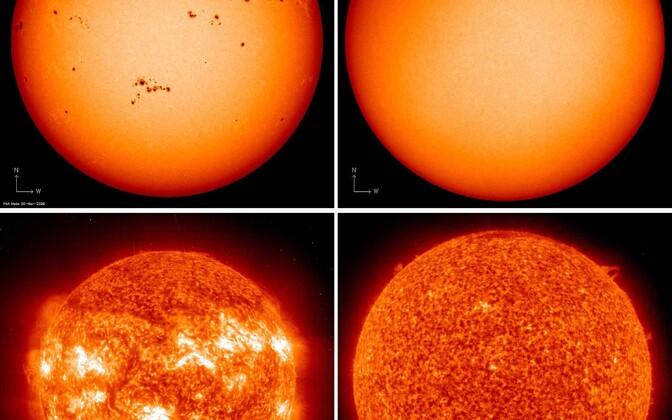 Päikeseplekid eelmise päikese maksimumi ajal 19.
