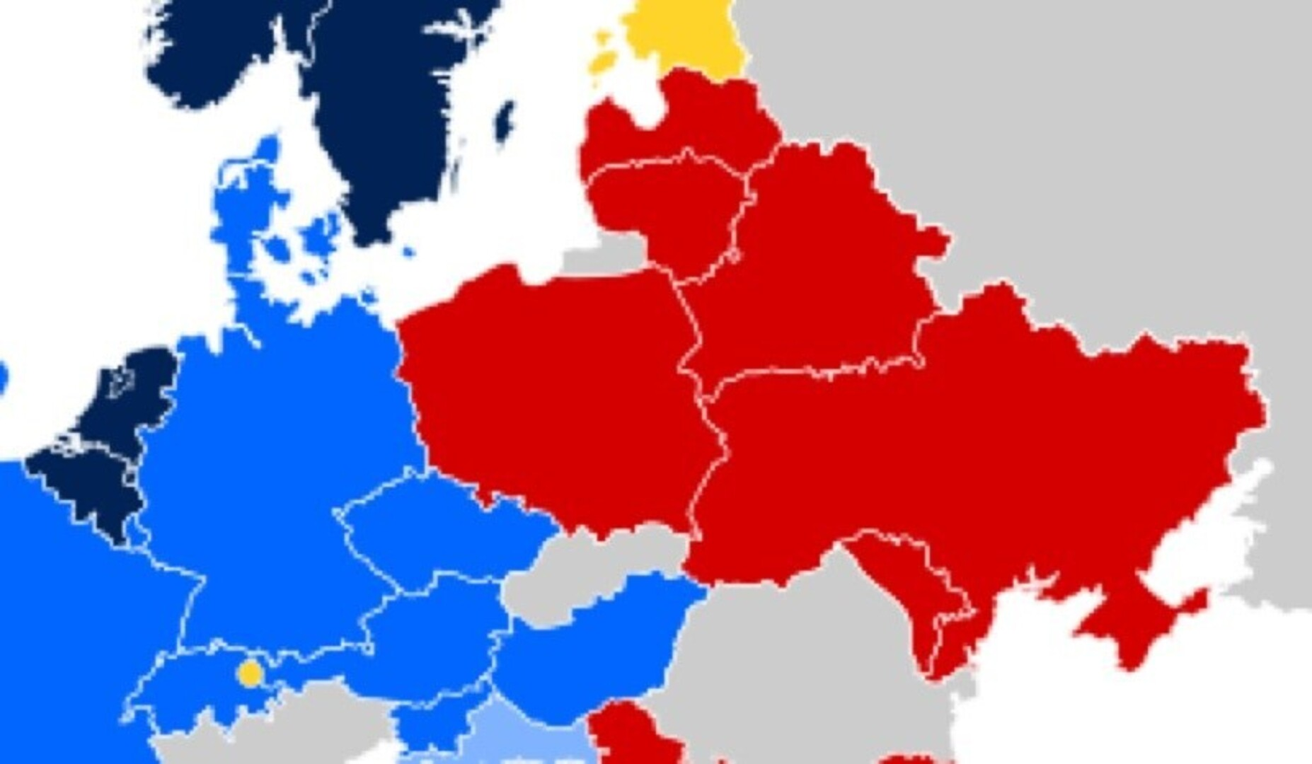 The iron curtain map - The Reds And The Rest A Map Of European Tolerance Source Map Wikipedia