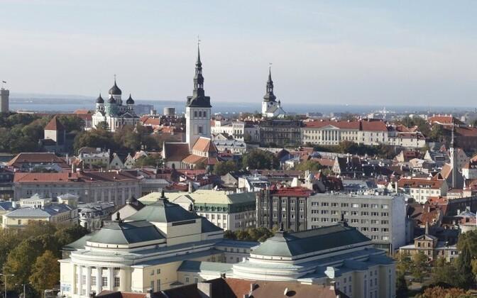 Вид на Старый Таллинн.