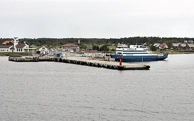 Kuivastu Harbor on Muhu, the landing point for Saaremaa-bound ferries
