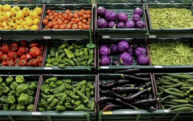 The price of fresh vegetables has dropped 20 percent in 12 months.