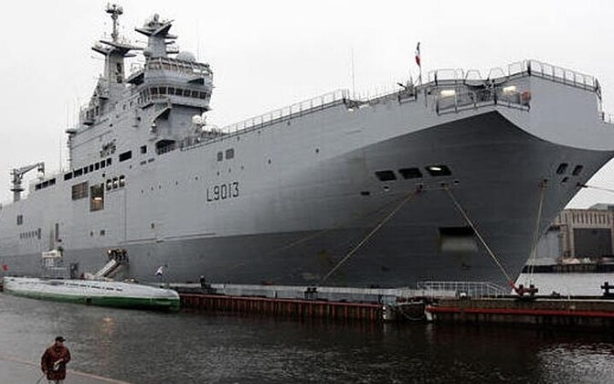 The Mistral helicopter carrier