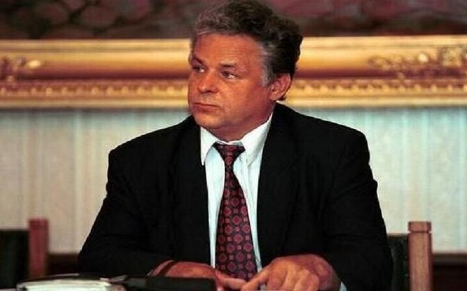 Ветеран русской политики, бывший председатель РПЭ Николай Маспанов. Фото 1999 года.