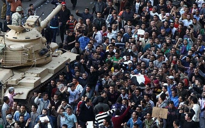 Protests in Egypt earlier this year are said to have been organized via social media.