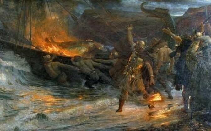 Mille järgi orienteerusid viikingid oma mereretkedel?