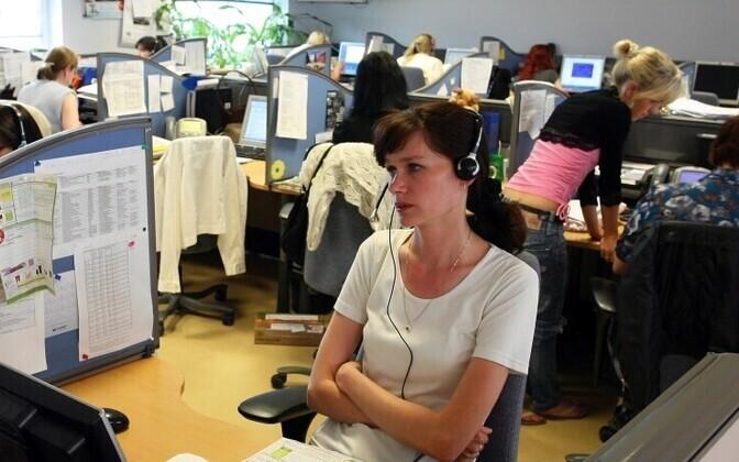 Call center in Estonia. Photo is illustrative.