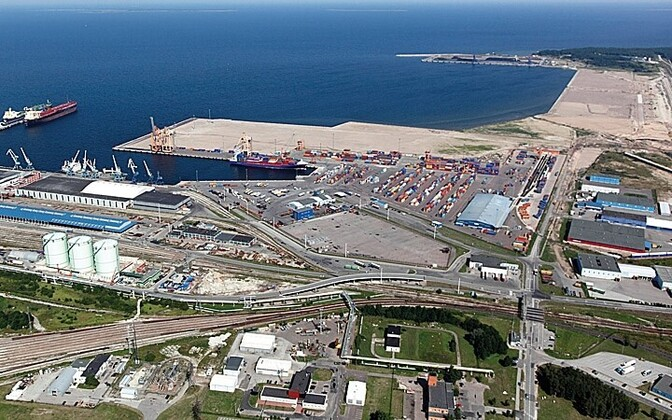 Muuga Harbor, site of the container terminal