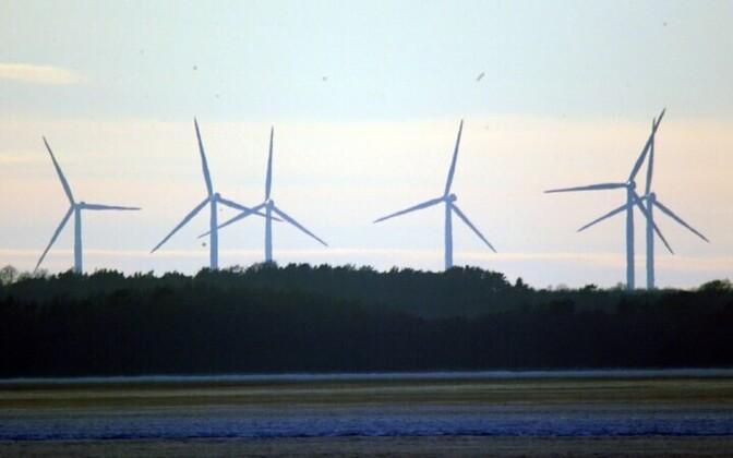 Wind turbines on the Pakri Peninsula
