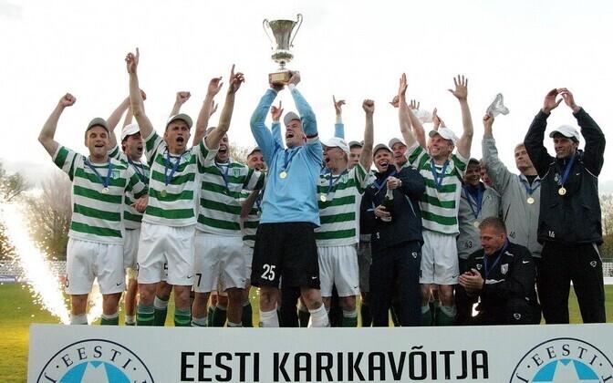 FC Flora 2009. aastal Eesti jalgpallikarikat võitmas