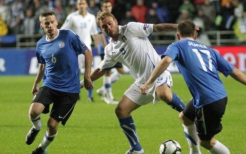 Estonia - Italy match in 2012.