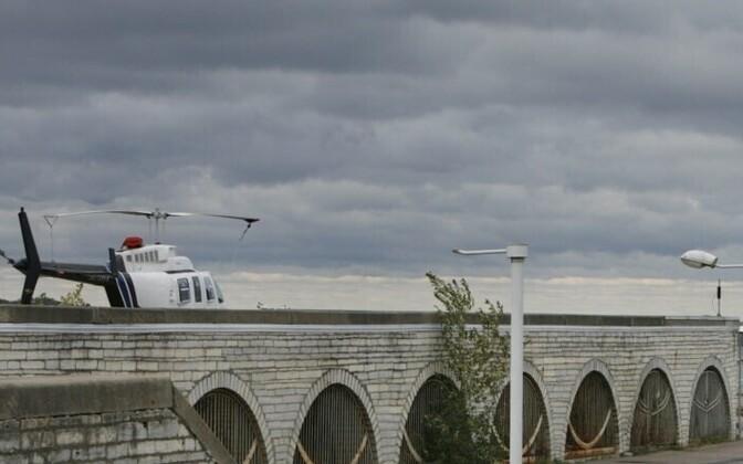 The Copterline landing pad in Tallinn