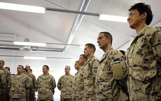 Эстонские военные перед отправкой в Афганистан в 2011 году.