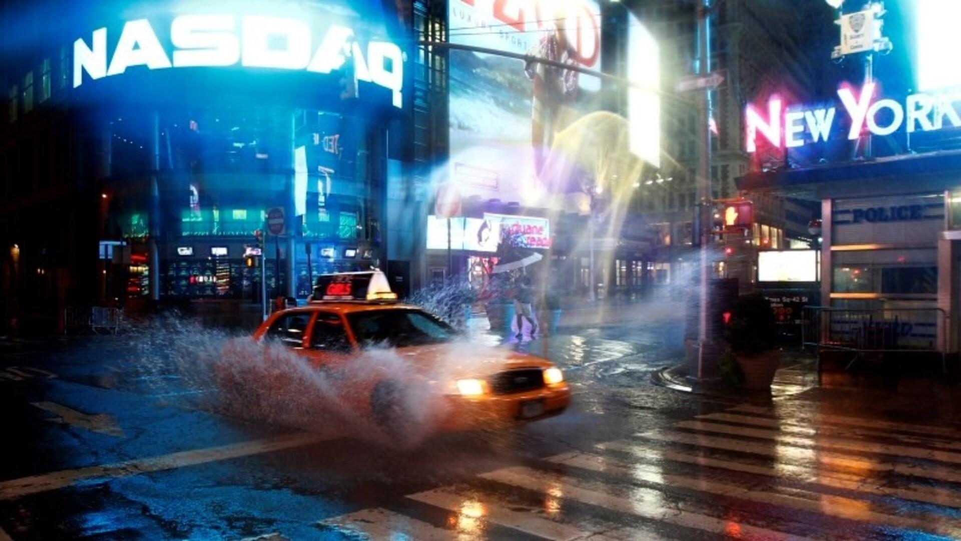Обои rain dance, Times square, ночь, Nyc, new york. Города foto 14