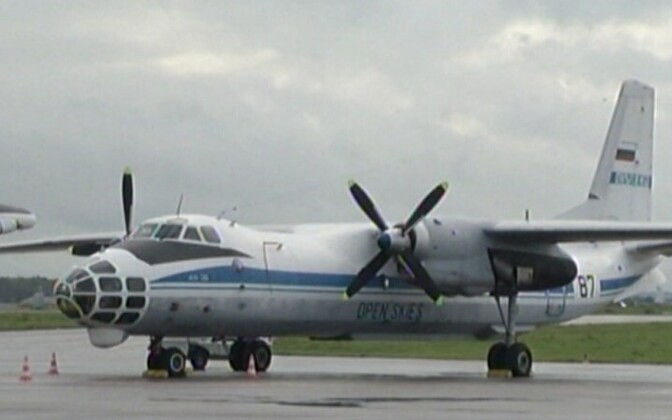 Russian AN-30 observation plane at the Tartu airport