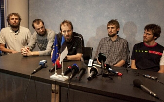 The hostages, after their release