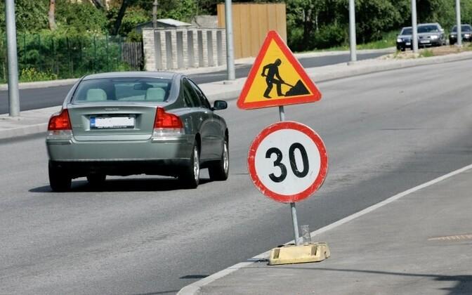 Вскоре ограничение скорости 30 км/ч будет не только на ремонтируемых участках дороги