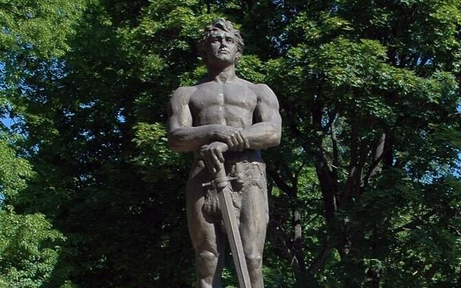 The epic hero, Kalevipoeg, as seen by sculptor Amandus Adamson