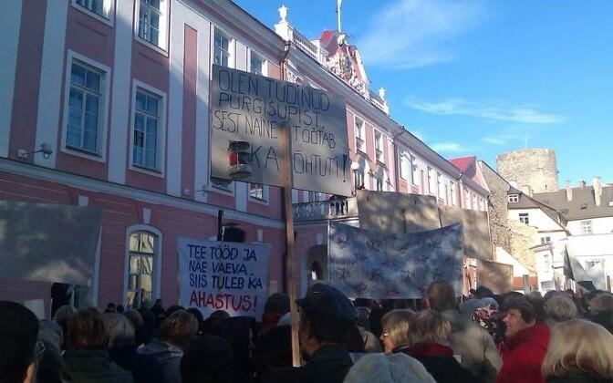 Учителя не раз собирались на Тоомпеа, прежде чем огранизовать масштабную общегосудартсвенную забастовку, намеченную на 7-9 марта.