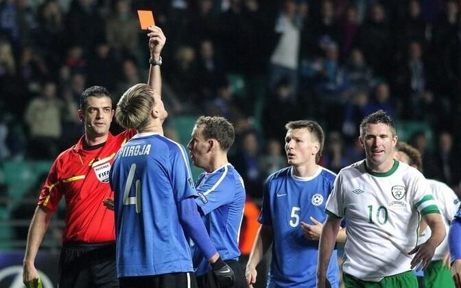 Estonia's ire was focused on the many dubious calls of referee Viktor Kassai.