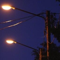 Уличные фонари.