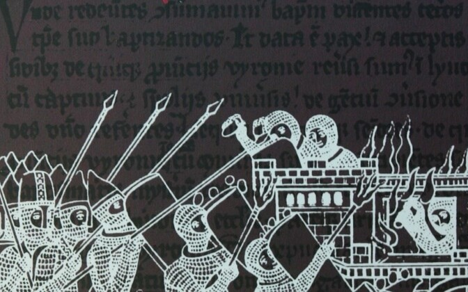 Cover detail of the Estonian edition of the Chronicle of Henry of Livonia