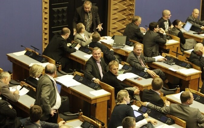 Parliament discussing the 2012 budget bill