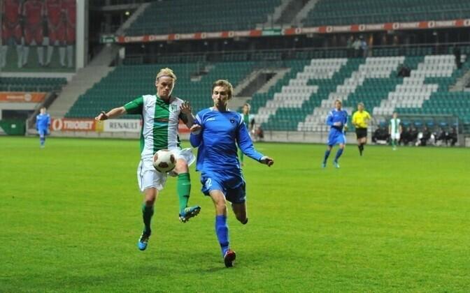 FC Flora playing FC Viljandi Tulevik in a Meistriliiga game