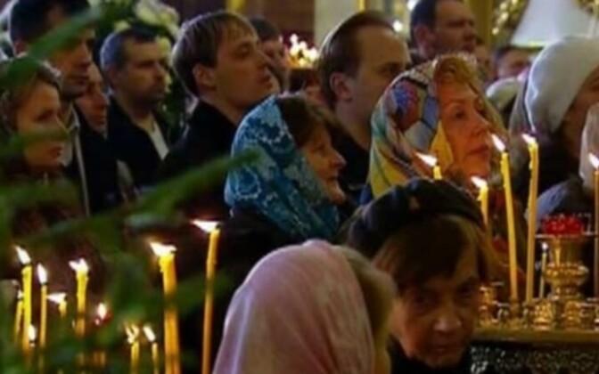 Рождественские службы в православных храмах