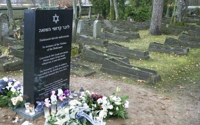 A Holocaust memorial in Pärnu