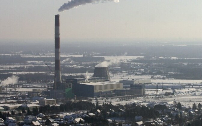The Iru power plant on the outskirts of Tallinn.