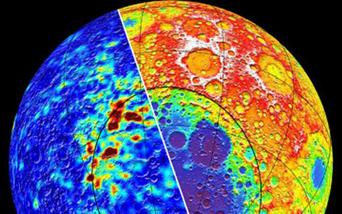 Kuu magetanomaaliad selle põhjapooluse lähistel