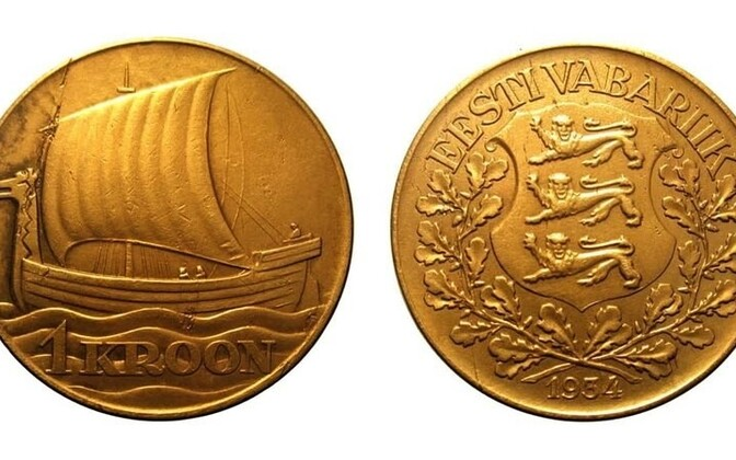 A gold-coated kroon from 1934 has been deemed the prettiest coin ever to be in circulation in Estonia.