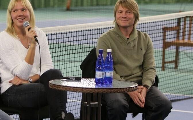 Kaia Kanepi and her coach Silver Karjus