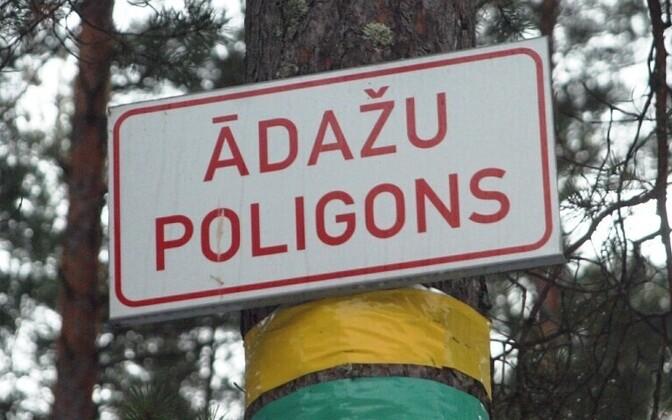 The Adazi military training area, Latvia