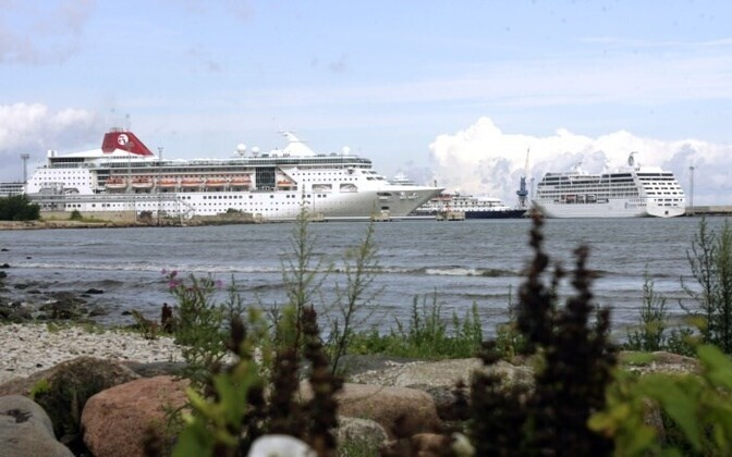 Cruise ships in Tallinn's Old City Harbor