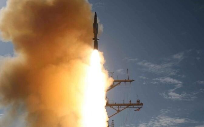 Старт противоракеты SM-3.