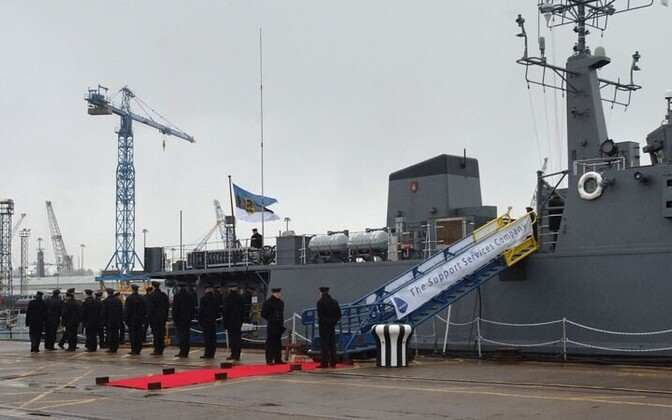 The minehunter EML Sakala of the Estonian Navy