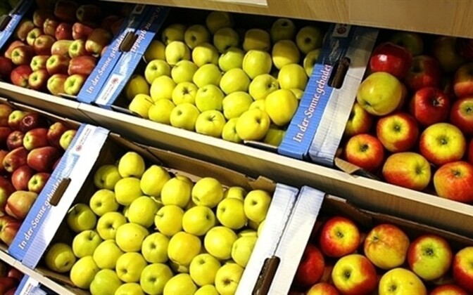 The price of apples have declined 19 percent in 12 months.