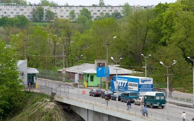 Граница между Эстонией и Россией.