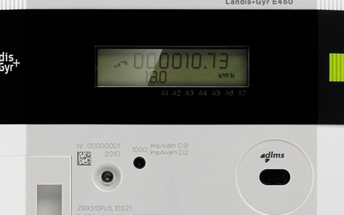 A smart meter, soon installed to all households in Estonia