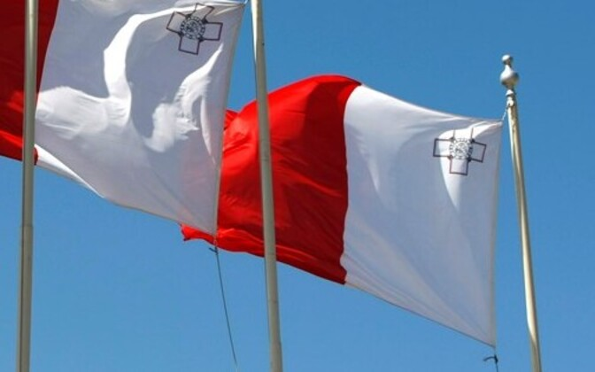 Maltese flags. Estonia is taking over the presidency of the EU council from Malta.