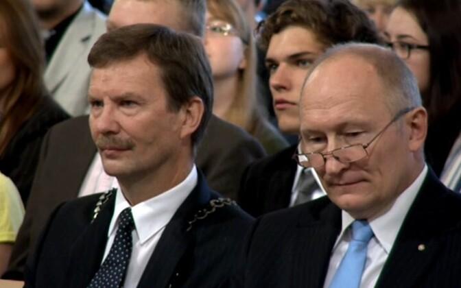 Ректор Тартуского университета Волли Калм и министр образования Яак Аавиксоо.