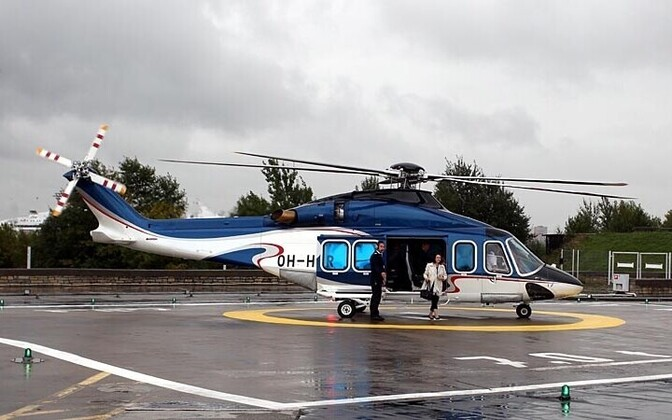 An AW139 helicopter.