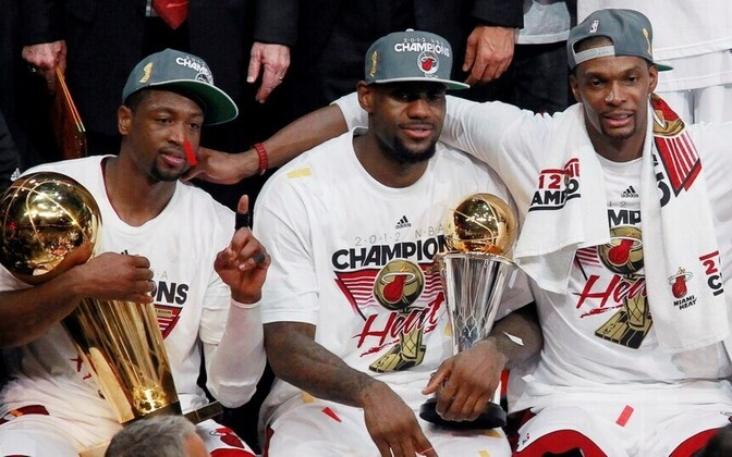 Miami Heat - Dwyane Wade, LeBron James, Chris Bosh