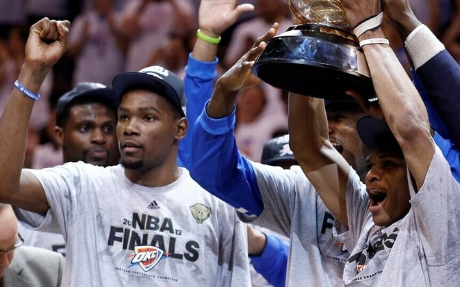 Oklahoma City Thunder - Kevin Durant ja Russell Westbrook