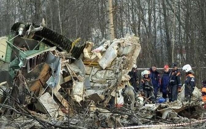 Poola lennuki rusud Smolenski lähistel 2010.