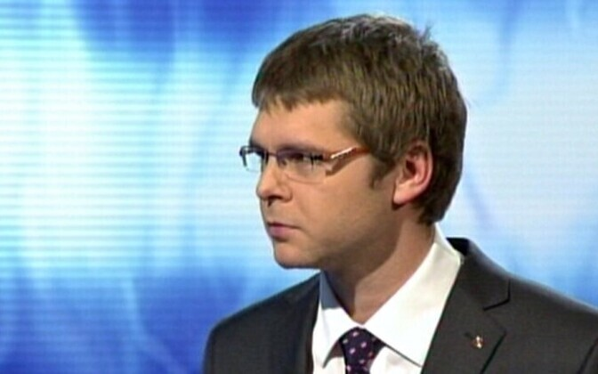Jevgeni Ossinovski on ETV's political debate show 'Foorum'